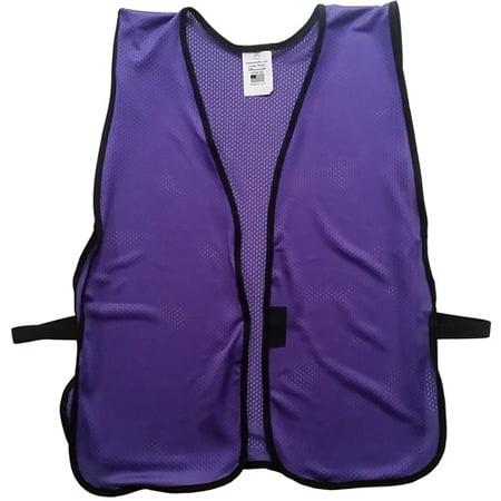 Purple Safety Vests - Soft Mesh Plain Vests