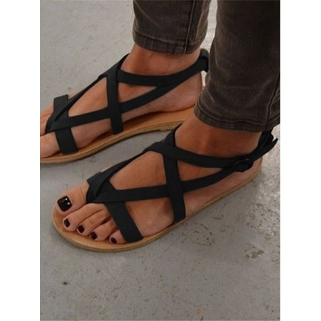 Women Sandals Casual Brown Flat Shoes Sandals