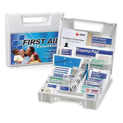 FIRST AID ONLY FAO-132GR First Aid Kit,Plastic,131 Pieces,8 in. H G1826207