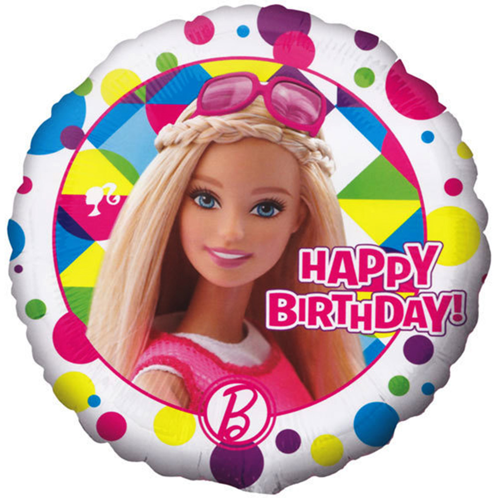 "Barbie Sparkle Happy Birthday Foil / Mylar Balloon 18"" (Each )"