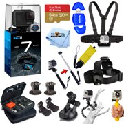 GoPro HERO7 HERO 7 Black Edition All In 1 PRO ACCESSORY KIT W/ 64GB SanDisk + MUCH MORE