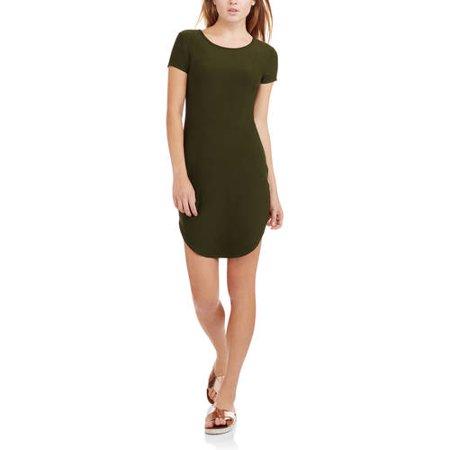 No Boundaries Juniors' Short Sleeve Tunic T-Shirt Dress