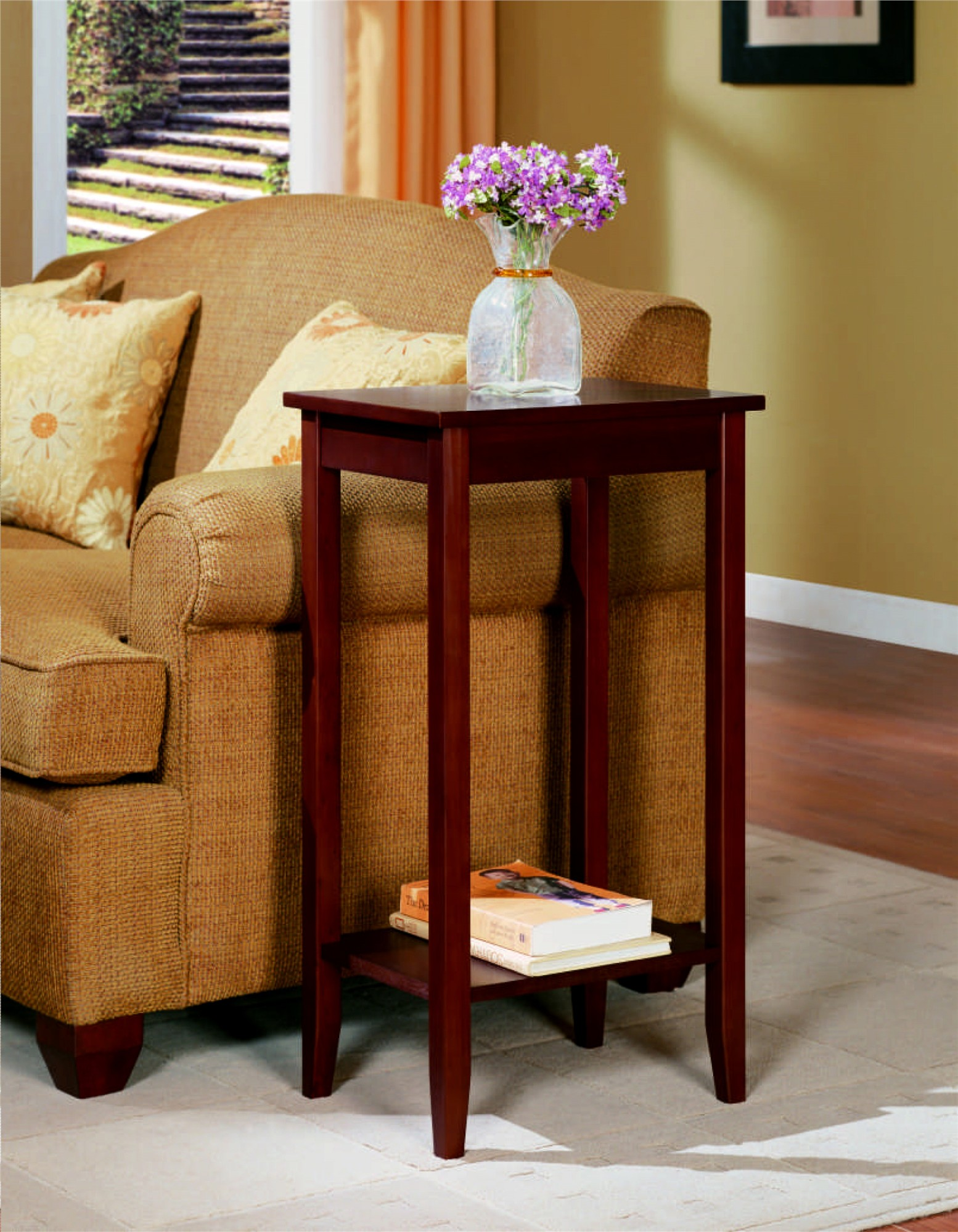 DHP Rosewood Tall End Table, Coffee Brown - Walmart.com - Walmart.com