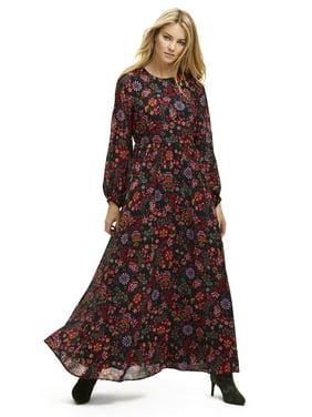 Scoop Floral Print Maxi Dress Women's