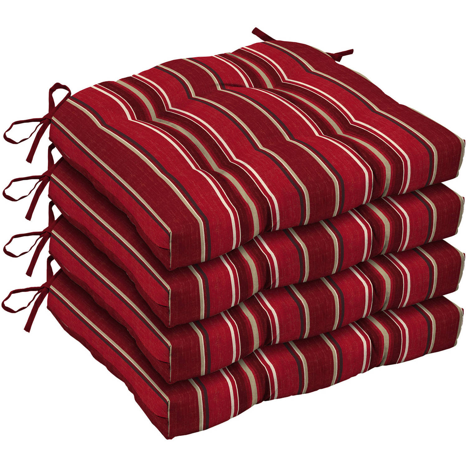 Better Homes and Gardens Outdoor Patio Wicker Seat Cushion, Set of 4