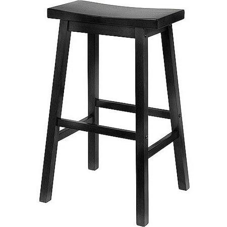 29u0022 Satori Saddle Seat Bar Stool - Black - Winsome