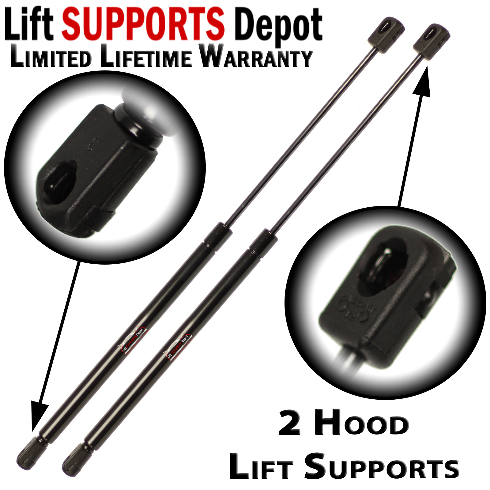 Qty (2) Fits Ford Explorer 2002 To 2010 Hood Lift Supports Struts Shocks  (exc 2001 To 2005 sport Trac) - PM3021