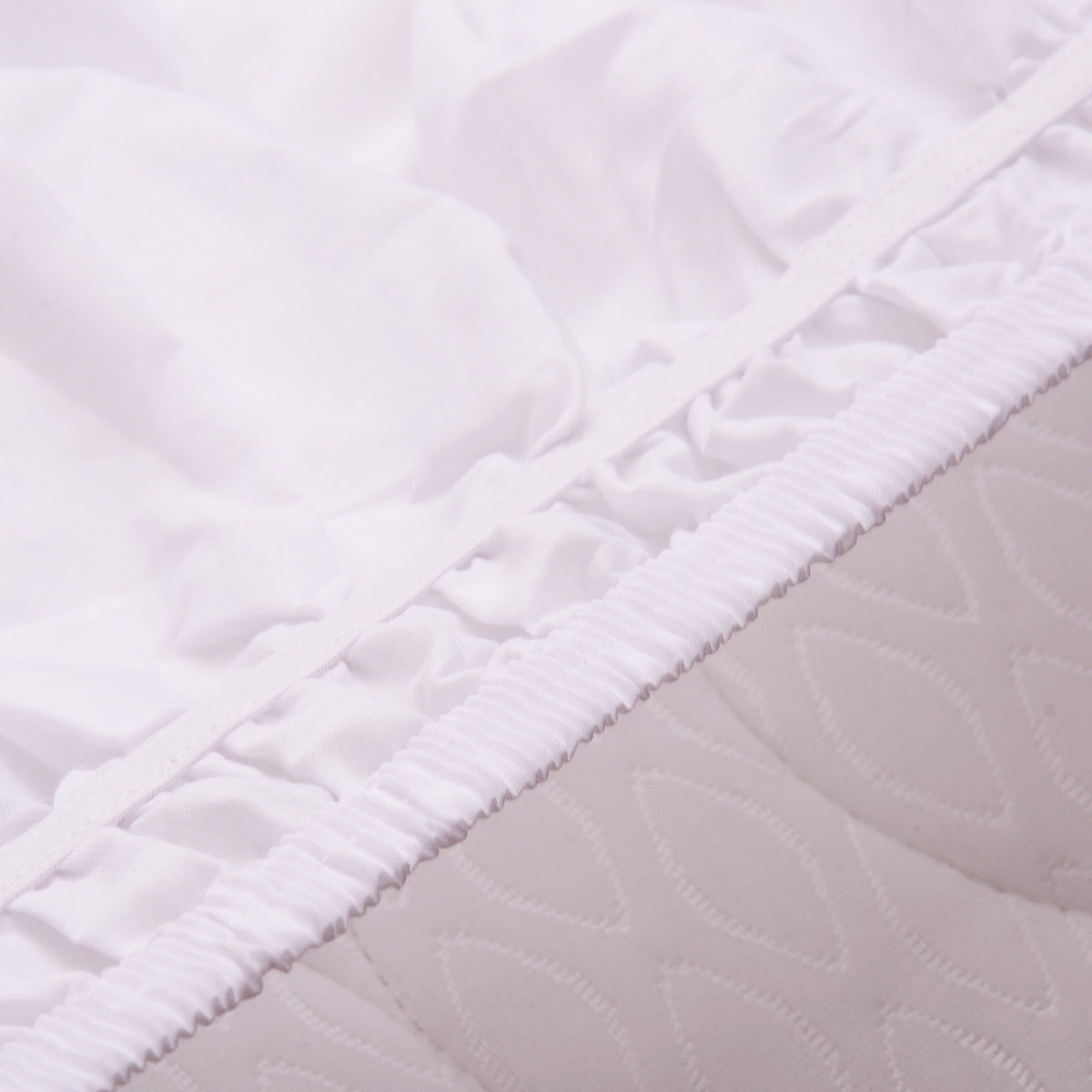 Costway White QueenKing Size Elastic Bed Wrap Ruffle Bed Skirt Around Bed 14'' Drop - image 6 de 7