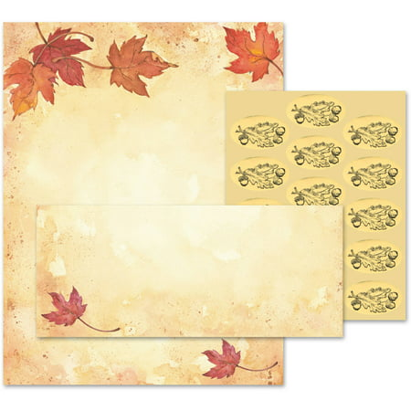 Great Papers! Fall Leaves Stationery Kit, 25 - Fall Stationery