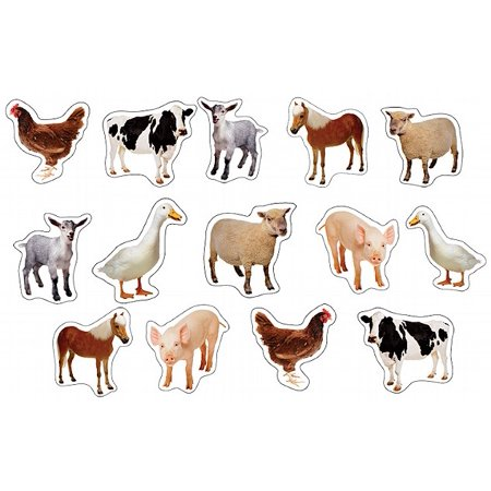 Farm Animal Stickers (Farm Animals: Photographic Shape)