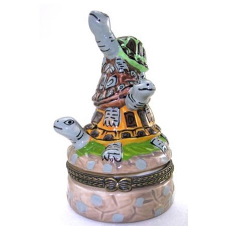 Turtle Music Box Collection (Three Turtles Terrapin Stacked Trinket Box )