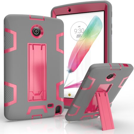 LG G Pad F 8.0 / V495 V496 V498 V525 Shockproof Duty Hard Stand Case Cover Gray