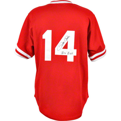 MLB - Pete Rose Autographed 1985 Jersey | Details: Cincinnati Reds, Hit King Inscription