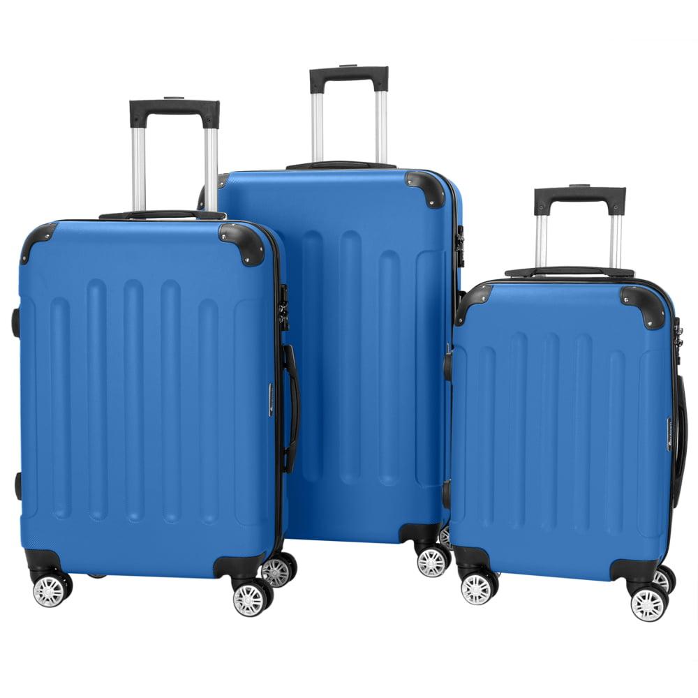 Zimtown 3Pcs Luggage Set PC+ABS Trolley