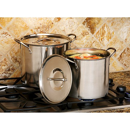 Cook Pro 8 Quart And 12 Stainless Steel Stock Pots With Lids
