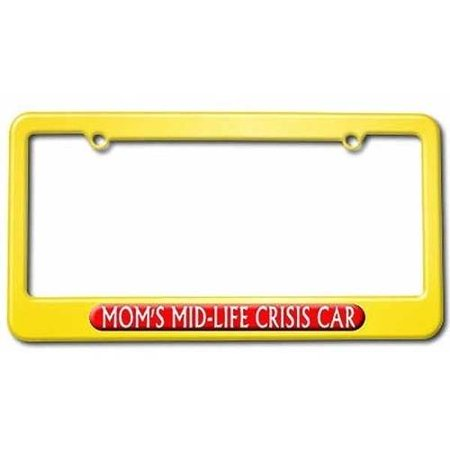 Mom\'s Midlife Crisis Car, Funny License Plate Tag Frame, Multiple ...