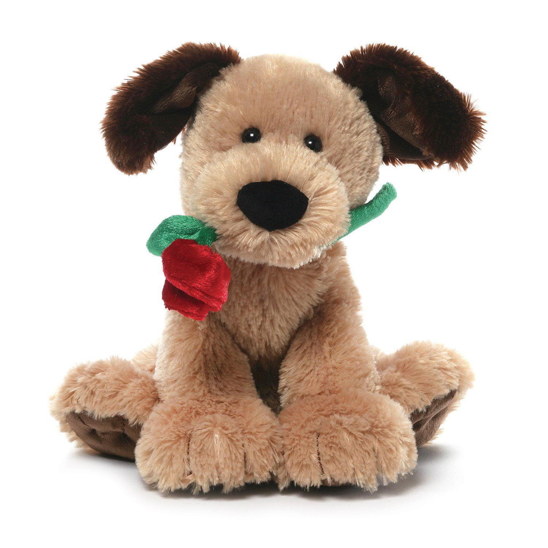 Gund Deangelo Valentines Day Dog with Red Rose Stuffed