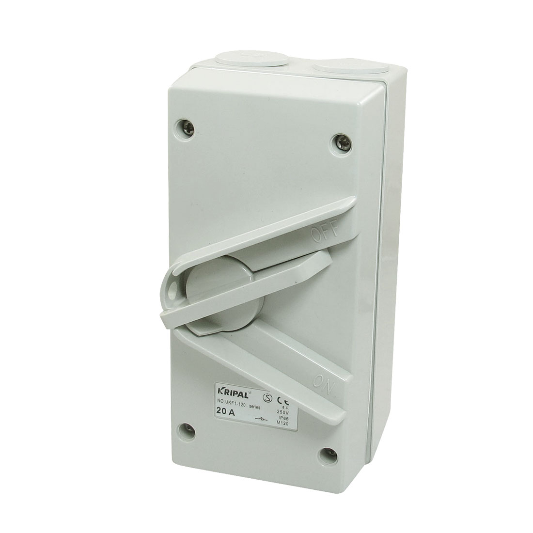 Unique Bargains Unique Bargains SPST 2 Postions Rotary Button IP66 Weather Protected Isolator Switch 250VAC 20A