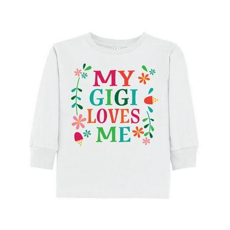 My Gigi Loves Me Girls Gift Apparel Toddler Long Sleeve T-Shirt - Girls Apparel