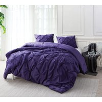 BYB Purple Reign Pin Tuck Comforter
