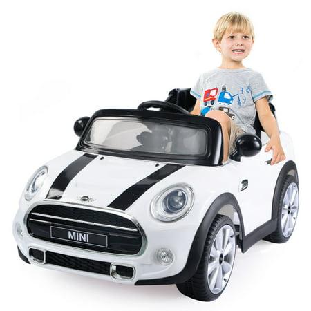 Costway Bmw Mini Hatch 12v Electric Kids Ride On Car Licensed Mp3 Rc
