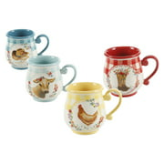 The Pioneer Woman Novelty Gingham 16-oz Mugs, Set of 4