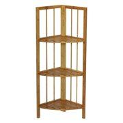 Gallerie Decor Bamboo Natural Spa 3 Shelf Corner Tower