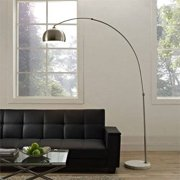 Modway Sunflower Floor Lamp with Round Marble Base, Multiple Colors