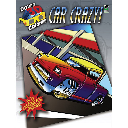 Dover Publications Car Crazy 3-D Coloring Book