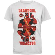 Deadpool Men's Wild Card Slim Fit T-shirt XX-Large White