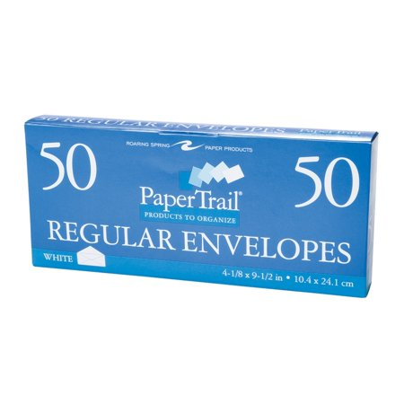 BOXED ENVELOPES #10 PLAIN (50 Plain Envelopes)