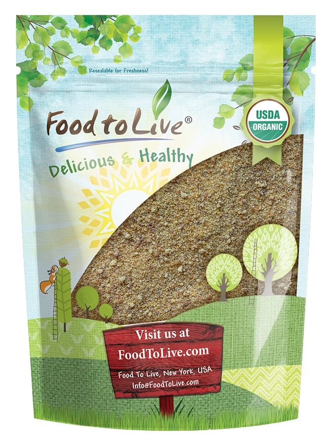 Organic Brown Coconut Sugar by Food to Live (Non-GMO, Pure Palm Sugar, Kosher, Vegan, Unrefined, Low Glycemic Sweetener, Highly Nutritious, Perfect for Baking, Bulk) — 8 Ounces