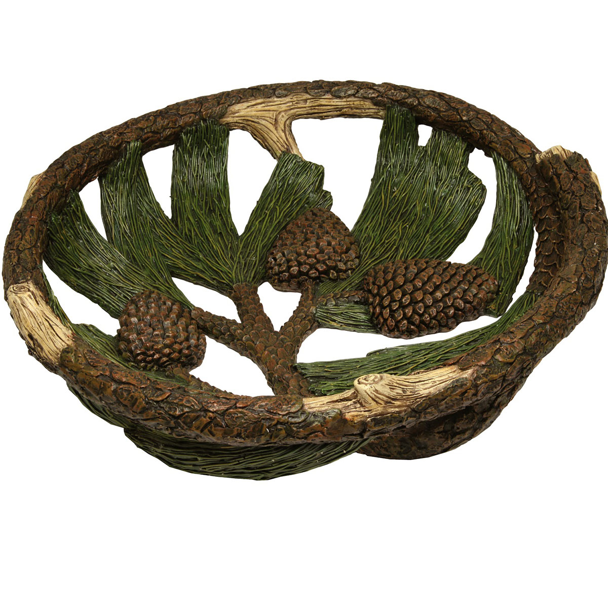 Rivers edge pine cone fruit bowl 12in diameter walmart com