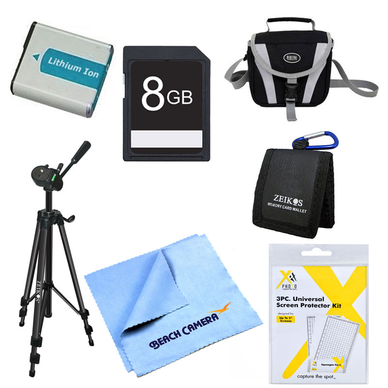 "Special EN-EL5 Battery Kit 8GB SD Card, Card Carry Case, LCD Screen Protector Deluxe Carrying Case Micro fiber Cleaning Cloth 60"" tripod Screen Protectors Nikon CoolPix P510 P520 P530 P500 P100 P90 P6"