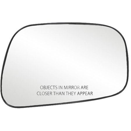 80175 - Fit System Passenger Side Non-heated Mirror Glass w/ backing plate, Toyota Camry Sedan 02-06, 4 3/ 8