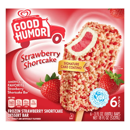 Good Humor Ice Cream Frozen Desserts Strawberry Shortcake Bar