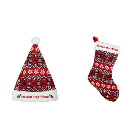 NHL   Knit Santa Hat And Knit Stocking 2 Pack (Knit Santa Hat)