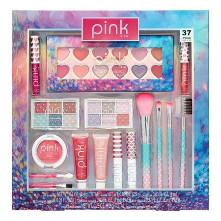 Pink Viva Makeup & Cosmetics Gift Set, 37 Pieces ($13 Value)