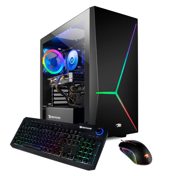 iBUYPOWER SLATE9050W - Gaming Desktop PC - Intel Core i5 9400F - 8GB DDR4 2666Memory - NVIDIA GeForce GTX 1660 Super 6GB - 240GB SSD - 1TB HDD - RGB - Windows 10 Home 64-Bit