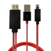For Samsung Android Cell Phone MHL Micro-USB to HDMI 1080P TV HD Cable Adapter