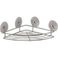 Shower Corner Shelves, Suction Cup, Polished Chrome