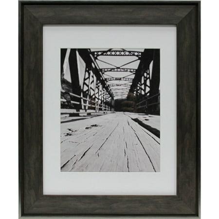 Industrial 11 x 14 Wood Picture Frame: Dark Brown