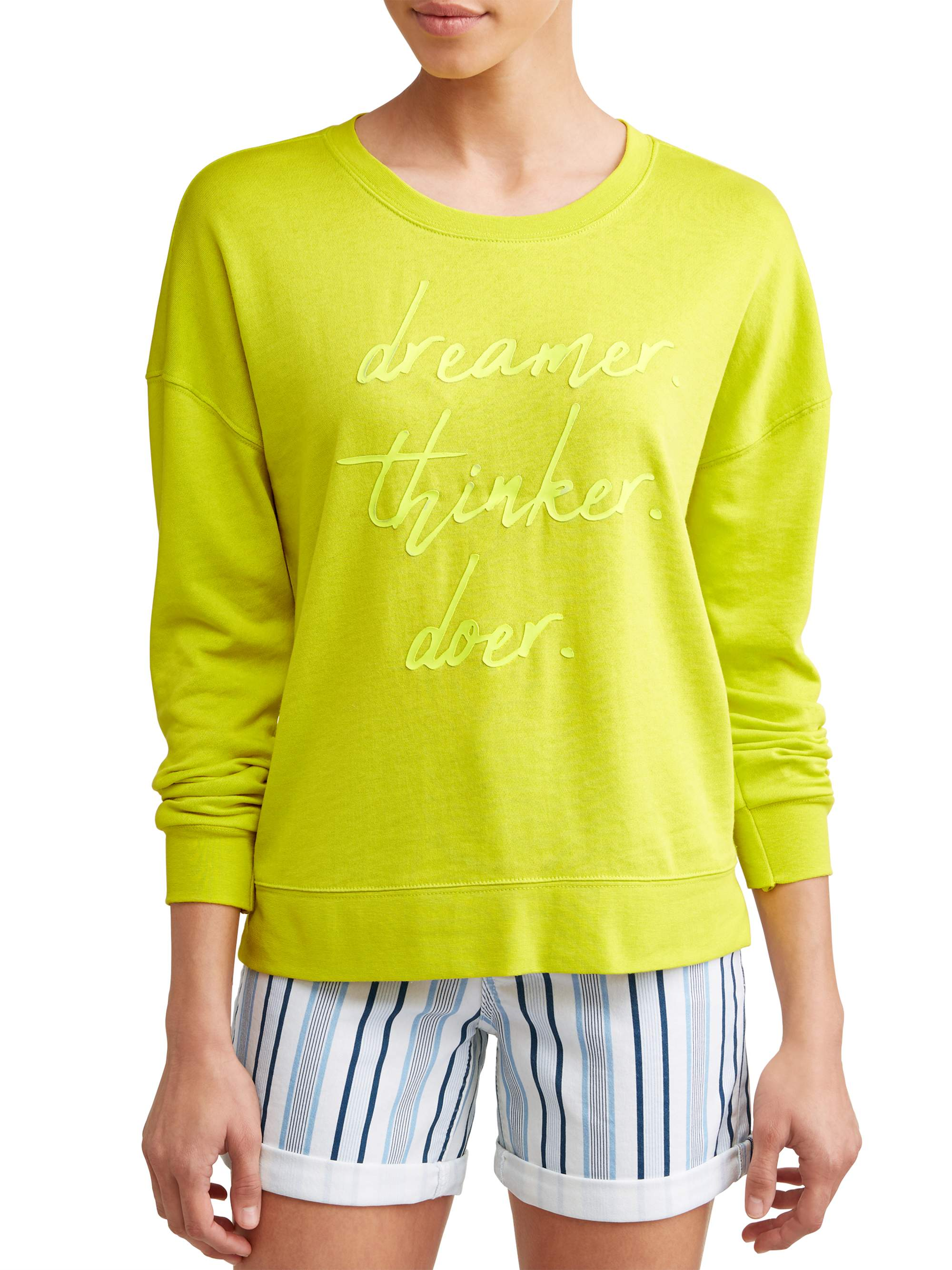 Dreamer Thinker Doer Sweatshirt Women's (Sulpher)
