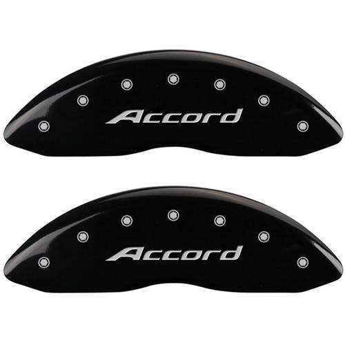 Set of 4 MGP Caliper Covers 20219Saccbk, Engraved Front: Accord, Engraved Rear: Accord, Black Powder Coat Finish, Silver... by MGP CALIPER COVERS