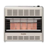 HearthRite Vent-Free Radiant Heater LP 25000 BTU, Thermostatic Control ()