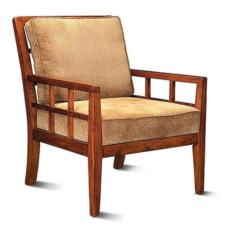 Linon home decor windowpane arm chair with cushions maple walmart linon home decor windowpane arm chair with cushions maple gumiabroncs Image collections