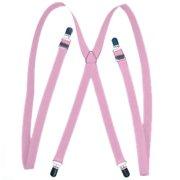 TopTie Pink Suspenders Unisex Skinny 3/4 inch Suspender