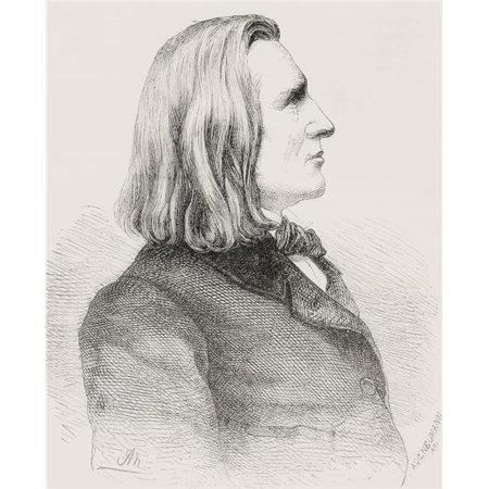 Design Pics DPI2334083LARGE Franz Liszt Aka Franz Ritter Von Liszt 1811 Poster Print, 24 x 30 - Large (Pics Von Sonnenbrillen)