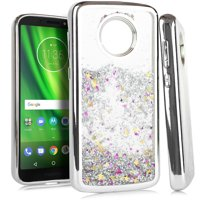 Product Image MUNDAZE Silver Motion Glitter Chrome Case For Motorola Moto E5 Phone
