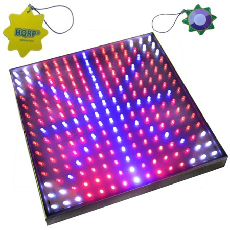 HQRP Quad-Band 14W 225 LED Blue / Red / Orange / White Spectrum Hydroponic Plant Grow Light Panel / Lamp + Hanging Kit + UV